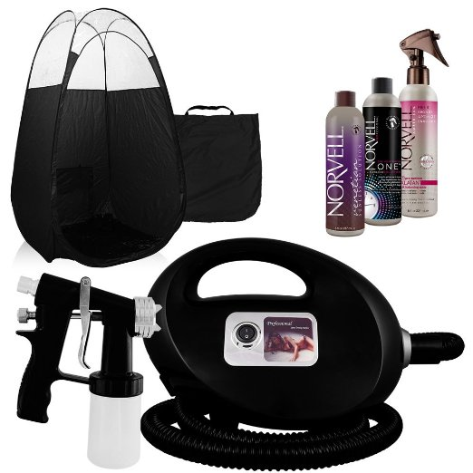 Black Fascination FX Spray Tanning Machine and Kit
