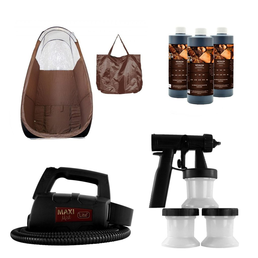 Maxi-Mist Lite Sunless Spray Tanning KIT Tent Machine
