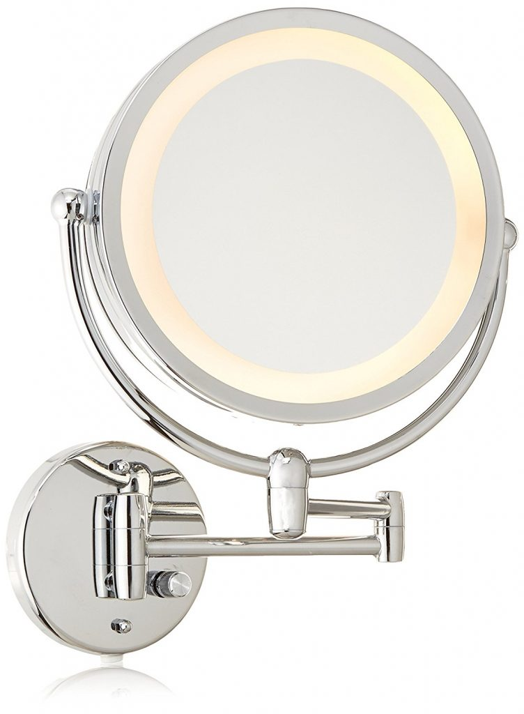 Danielle Revolving Wall-Mounted Lighted Mirror