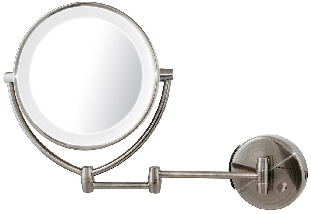 Ovente LED Lighted Wall Mount Makeup Mirror
