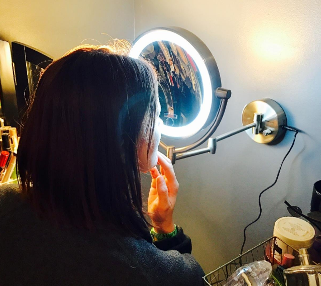 Best lighted makeup mirror the vanity mirror that every girl wants ovente led lighted wall mount makeup mirror aloadofball Choice Image