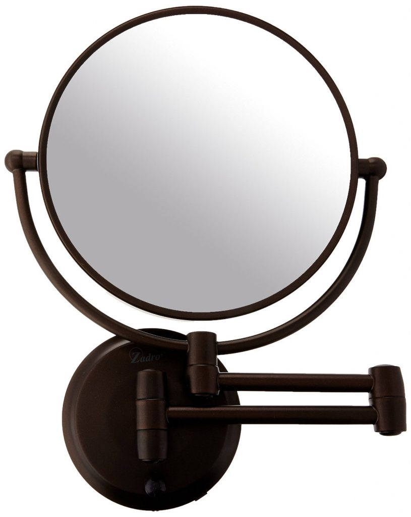 Best Lighted Makeup Mirror The Vanity That Every Girl Wants Jerdon Mounted Wiring Diagram Zadro 10x Next Generation Cordless Led Double Sided Round Wall