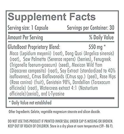 Gluteboost Butt Enhancement pills ingredients
