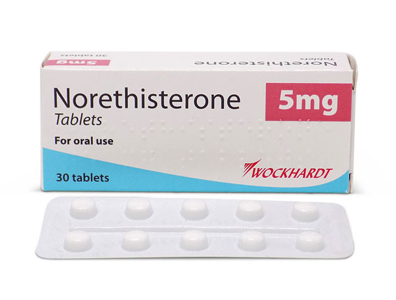 Period after taking norethisterone tablets