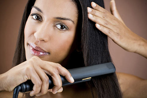 straightening thick hair